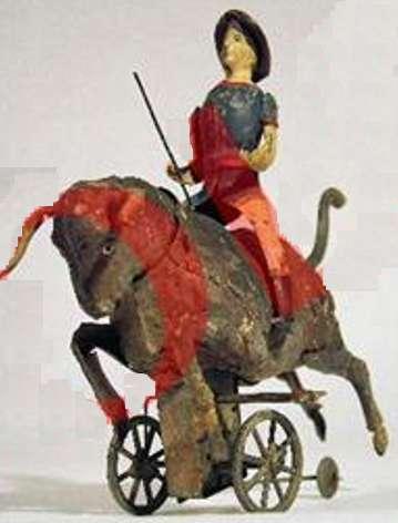 Günthermann Junge der auf einem Bullen reitet