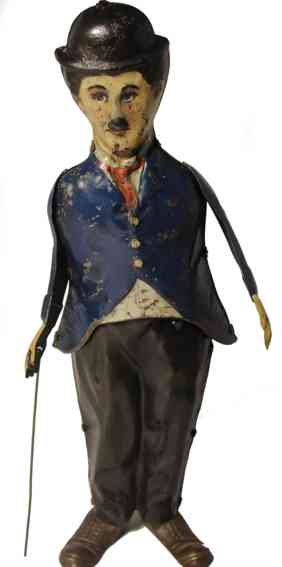 guntherman tin toy charly chaplin wind-up