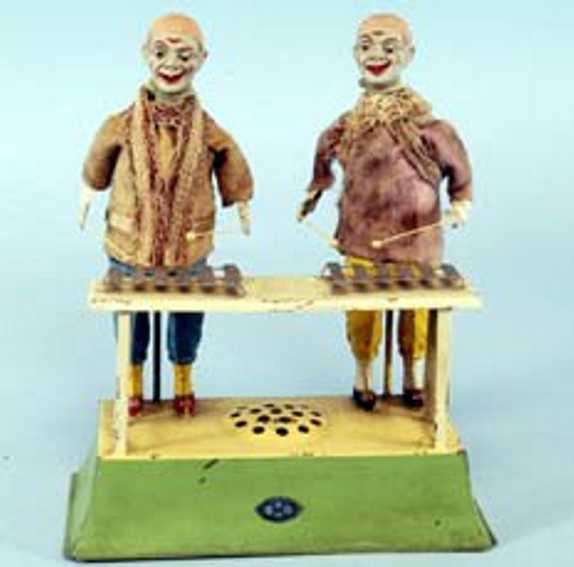 guenthermann blech spielzeug 2 clowns spielen xylophon