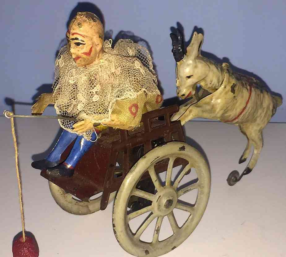 guenthermann tin toy clown with goat