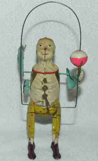 Guenthermann Mechanical Clown Ball Juggler Tin Windup Toy