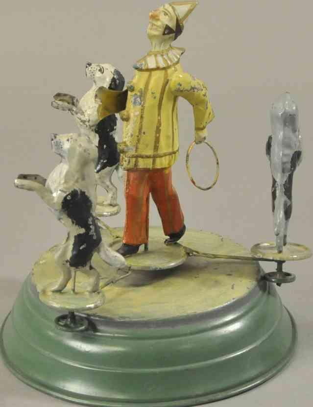 guenthermann blech spielzeug clown drei tanzende pudel uhwerk