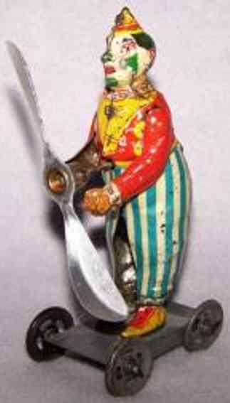 Günthermann Clown mit Uhrwerk Propeller