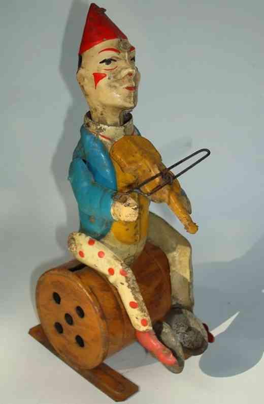 Günthermann Clown mit Violine und Zimbeln