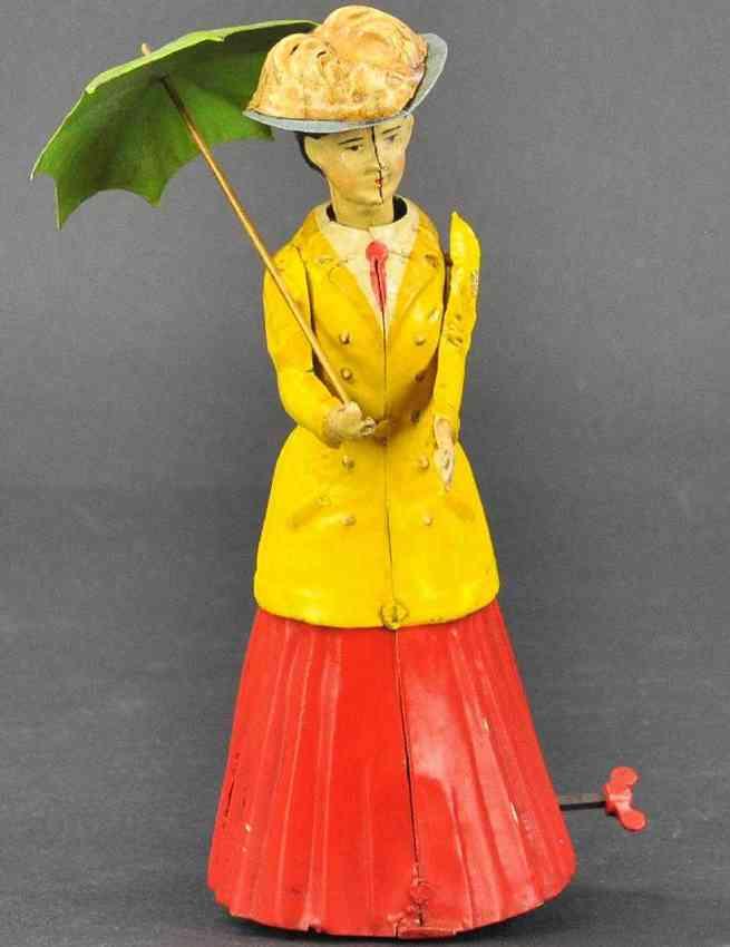 guenthermann blech spielzeug dame mit schirm