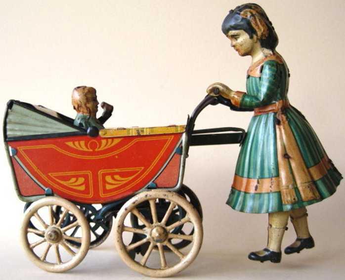 Günthermann Frau mit Kind im Kinderwagen