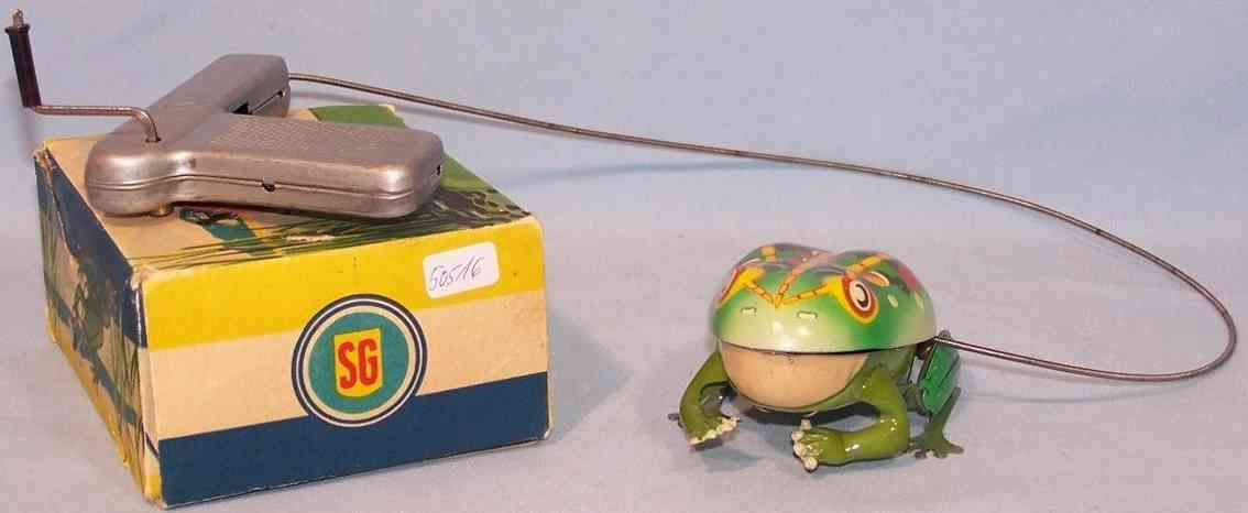 guenthermann blech spielzeug frosch mit ueberschlagsmechanik