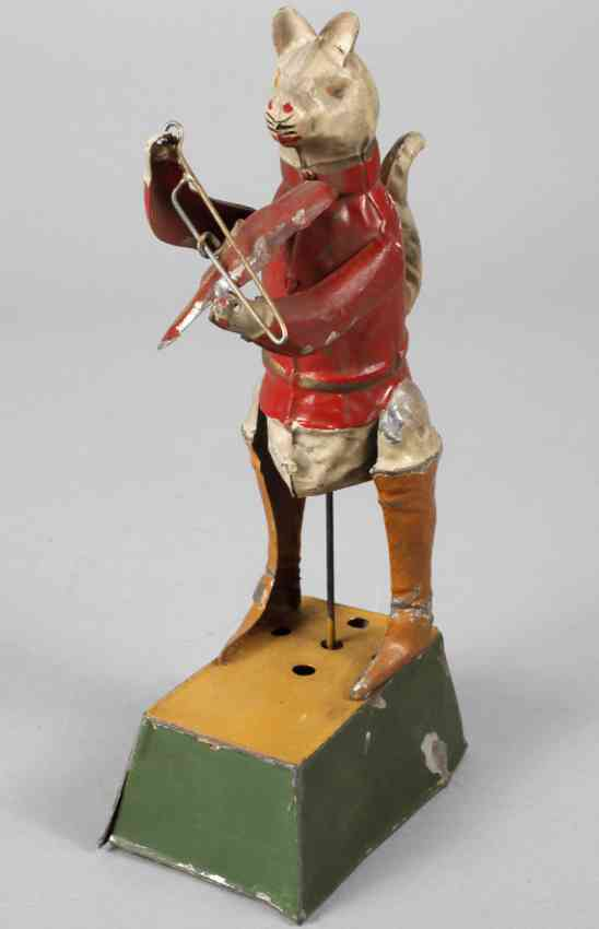 guenthermann tin toy booted tomcat clockwork violin music