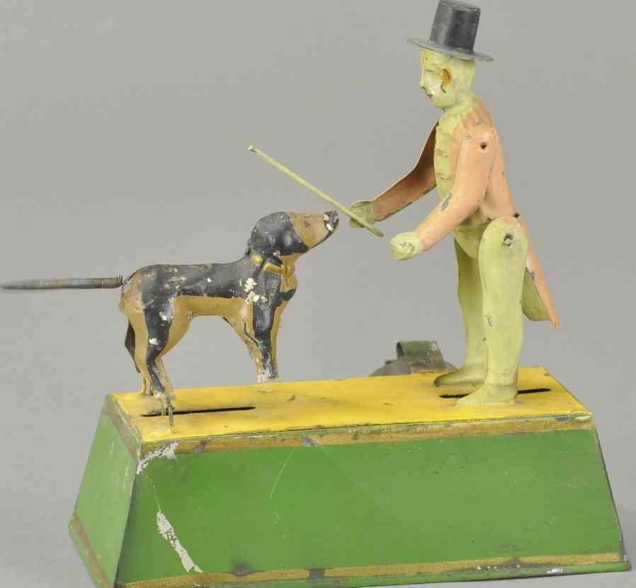 guenthermann blech spielzeug hundetrainer uhrwerk