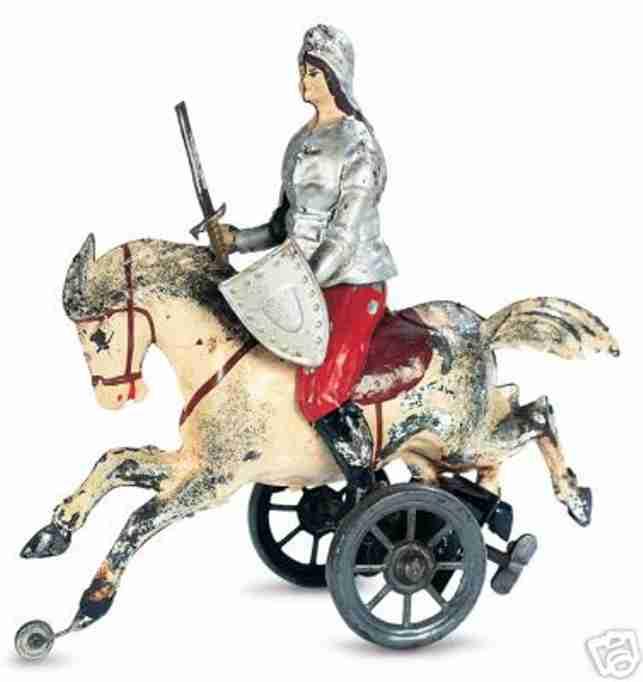 Günthermann Jeanne d'Arc auf Schimmel mit Uhrwerk