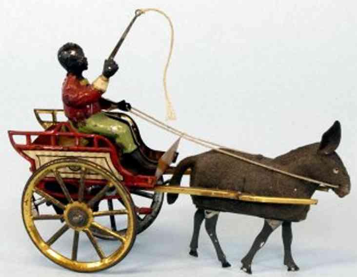 Günthermann Junge auf Karre mit Esel