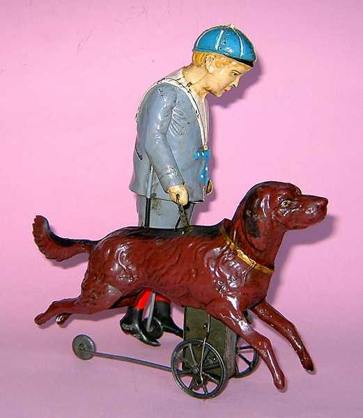 Günthermann Junge mit Hund und Uhrwerk