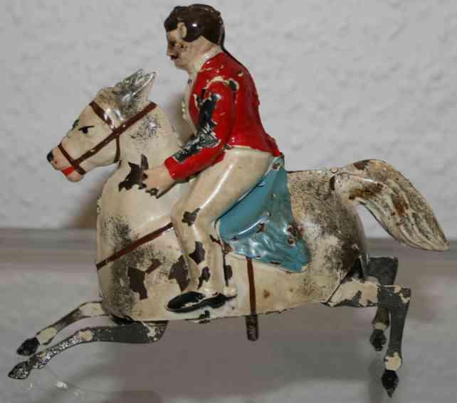 guenthermann blech spielzeug reiter auf pferd