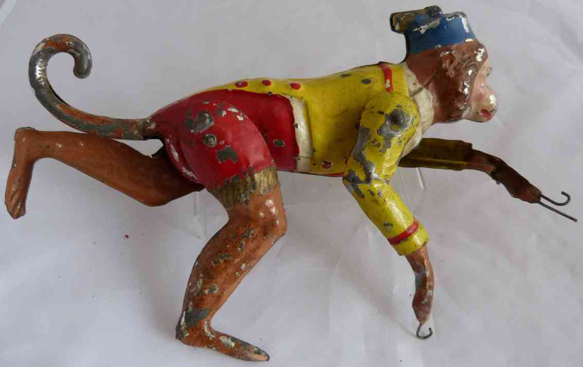 guenthermann tin toy monkey with clockwork