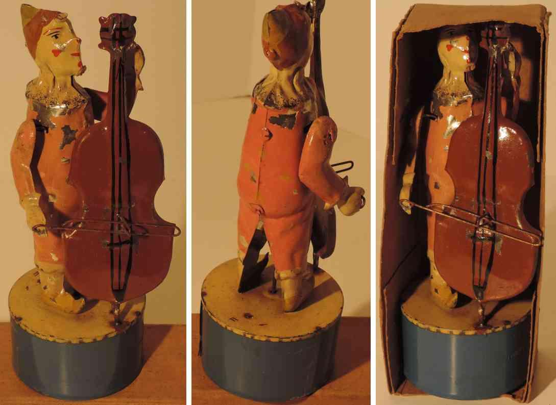 gunthermann tin toy clown bassist