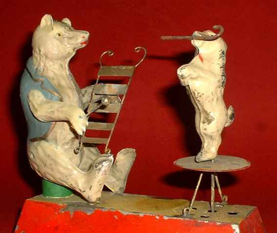 Guenthermann Gunthermann Bear with Zylophone and Poodle