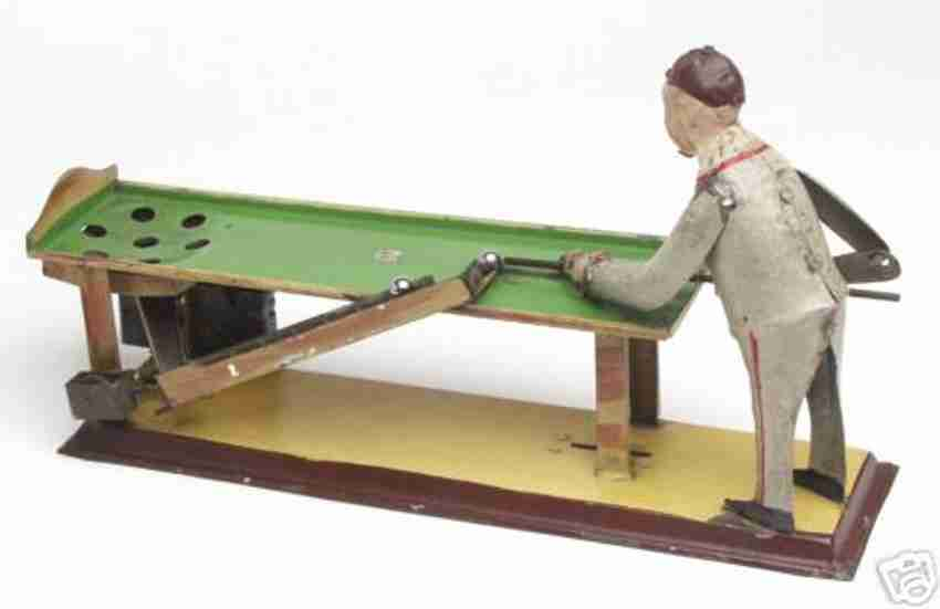 guenthermann tin toy billiard player clockwork