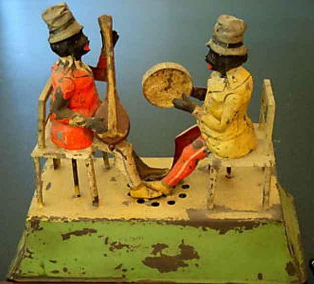 guenthermann  blech 2 musikanten negerduett  mandoline tambourin