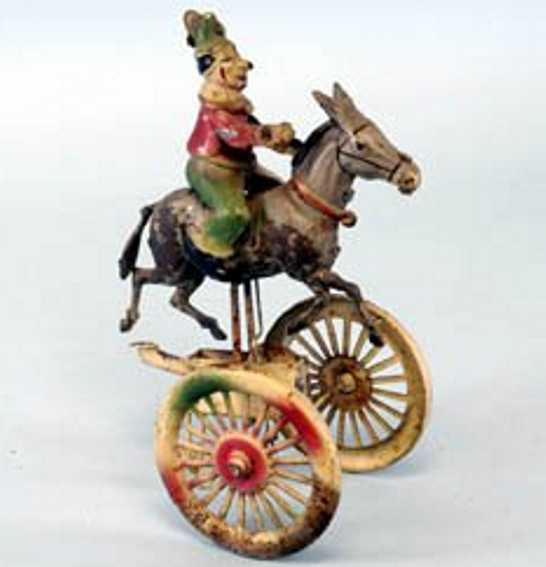 Guenthermann Gunthermann Clown on donkey with two wheels