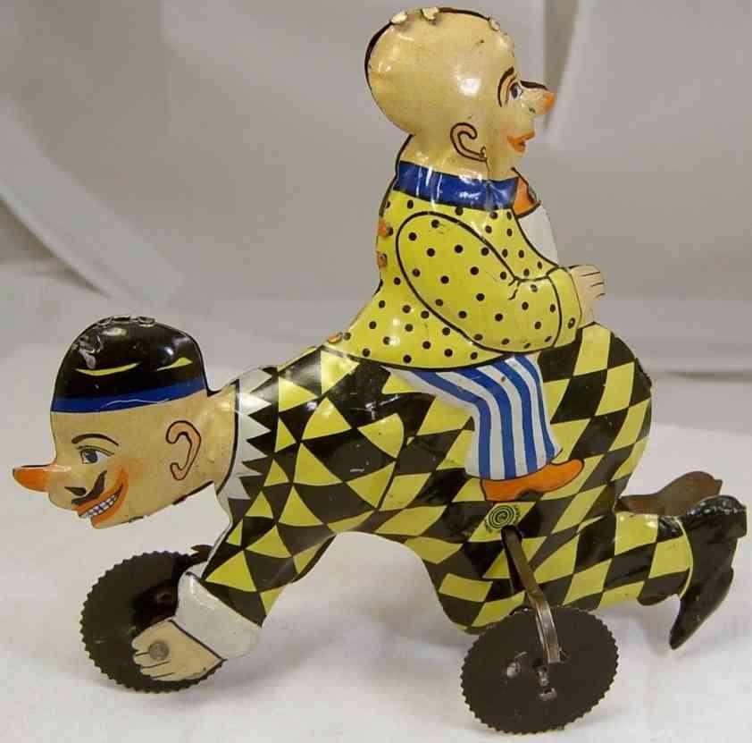 guenthermann  blech spielzeug kriechender clown baby cicero uhrwerk