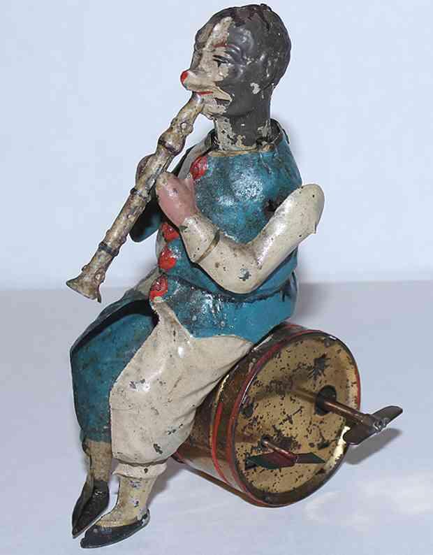 Günthermann Clown mit Klarinette und Uhrwerk