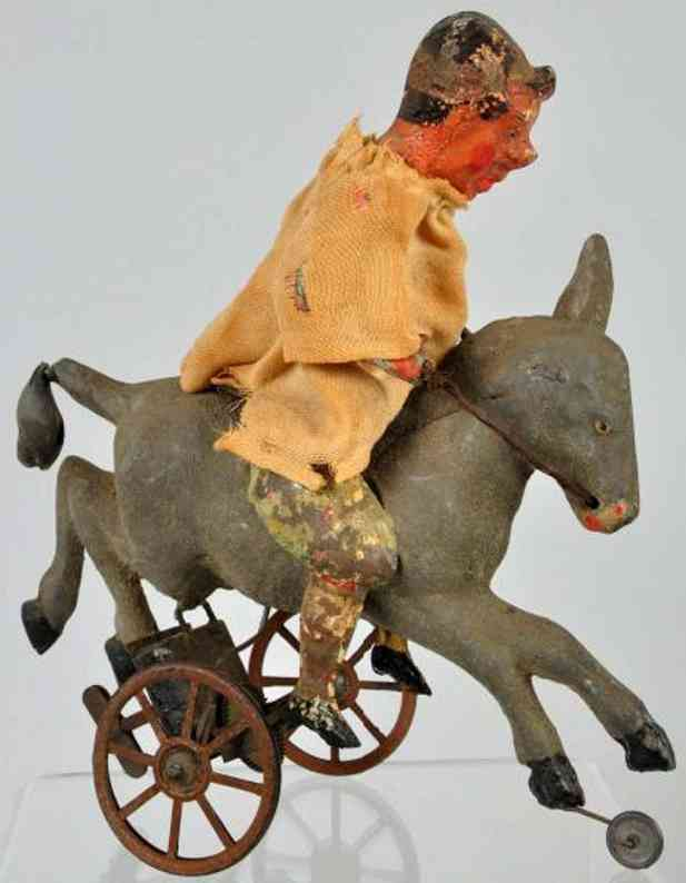 Guenthermann Clown riding donkey
