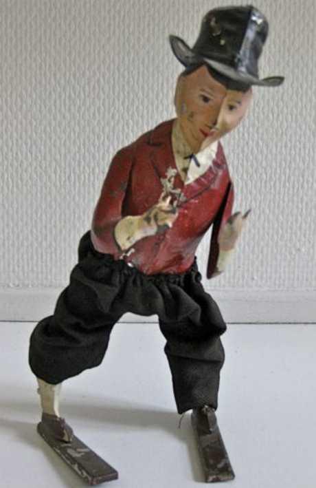 Günthermann Handbemalter Mann mit Uhrwerk