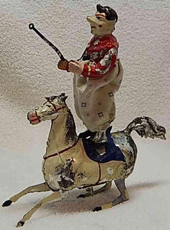 guenthermann blech spielzeug zirkusclown pferd uhrwerk