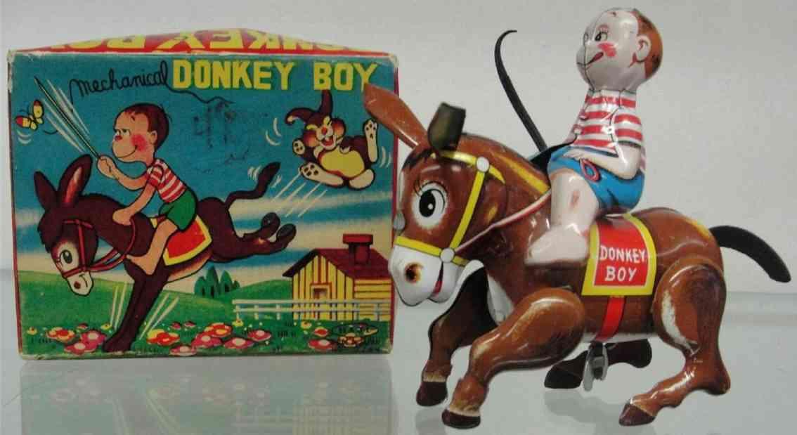 Haji Mansei Toys Co. Ltd Junge reitet auf einem Esel