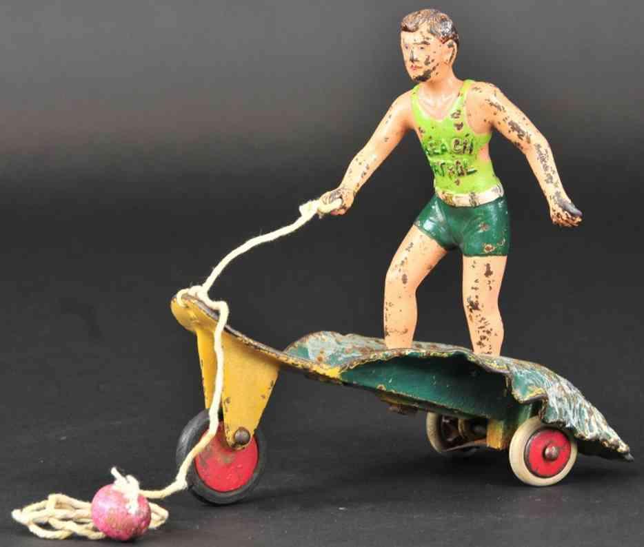 hubley spielzeug gusseisen junge als surfer