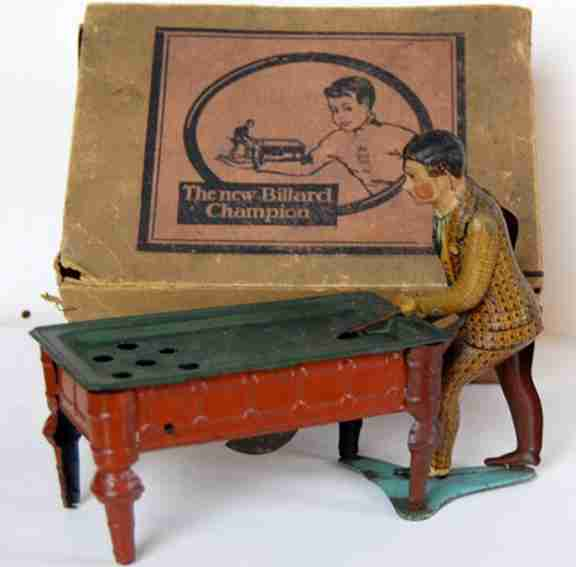 huki kienberger tin toy billiard player