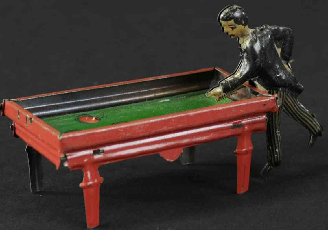 huki kienberger tin toy pool player clockwork