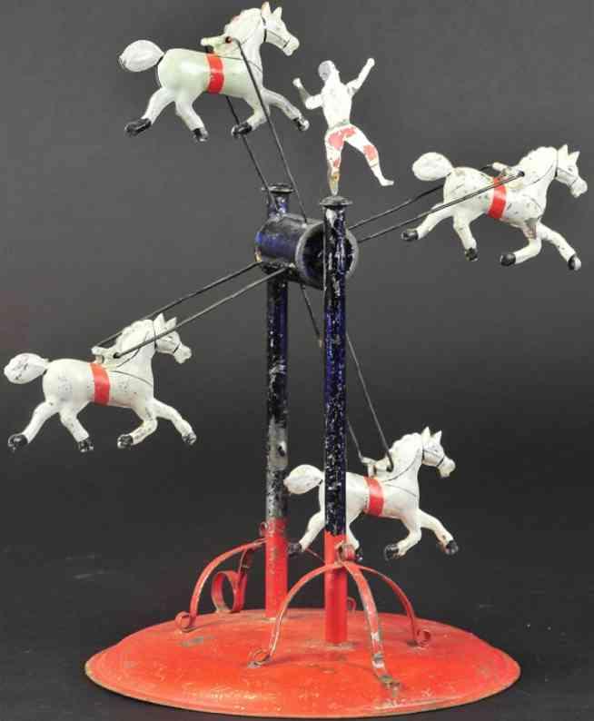 hull & stafford blech spielzeug riesenrad vier pferde eine figur