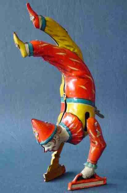 issmayer blech spielzeug handstand-clown