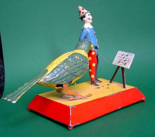 Issmayer Clown Conductor with Singing Bird