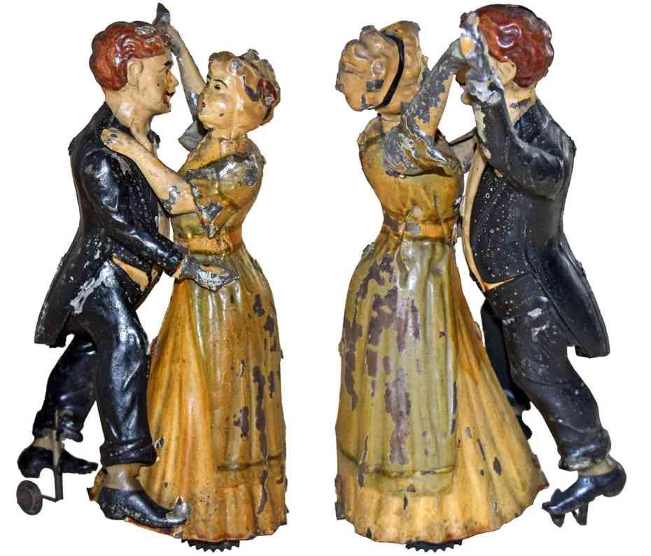 issmayer blech spielzeug tanzpaar mit uhrwerk