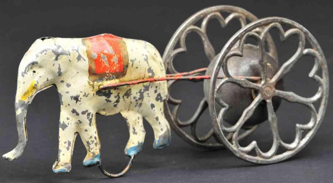 ives blech spielzeug elefant mit glocke