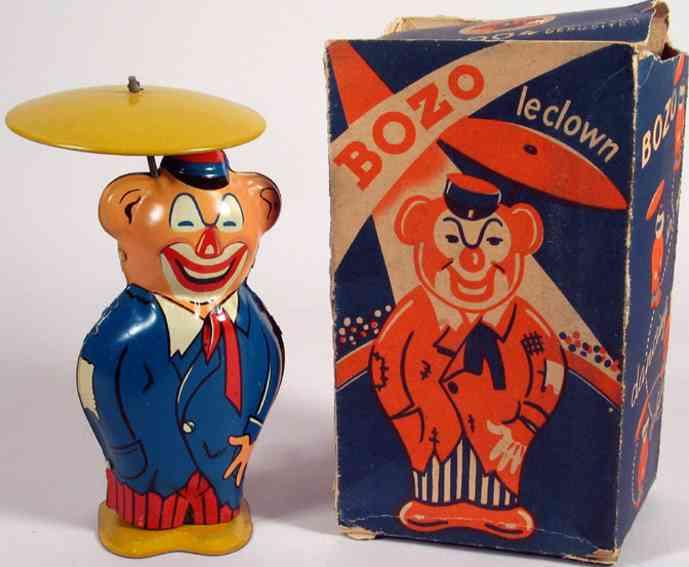 joustra 1004 blech spielzeug clown bozo clown mit uhrwerk