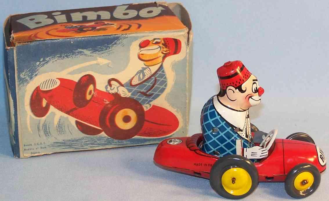 joustra blech spielzeug bimbo der fahrende clown