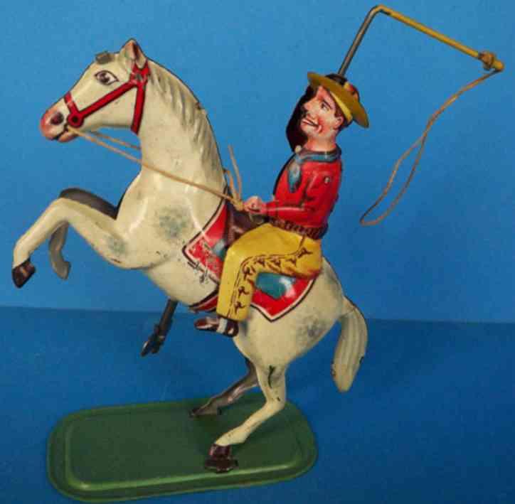 keim 946 cowboy auf pferd mit lasso uhrwerk