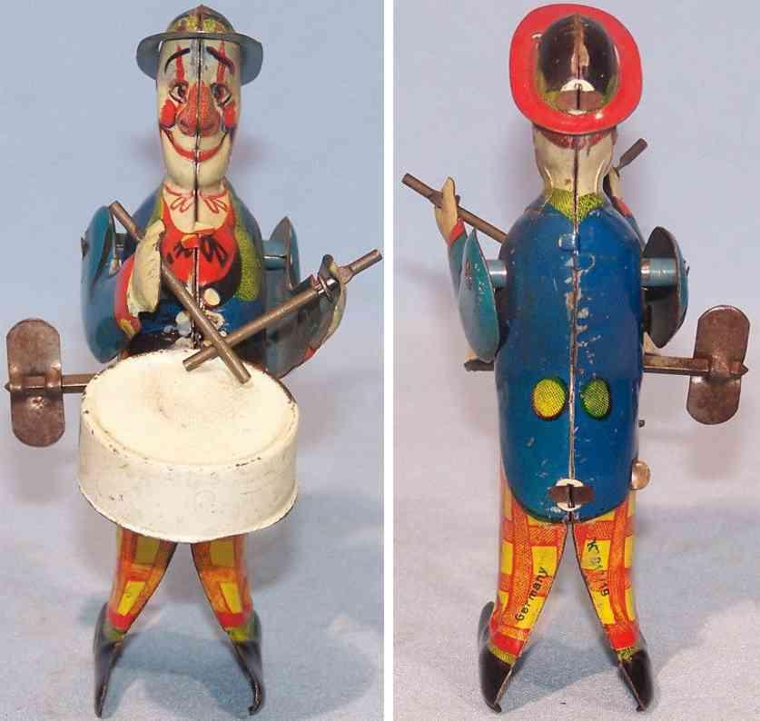 keim 919/19 tin toy clown with drum