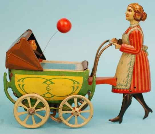 Kellermann 222 Kinderwagen mit Mädchen