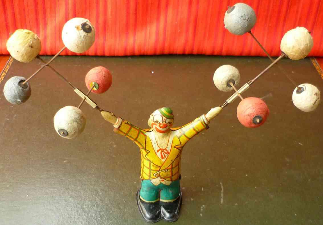 kellermann 320 blech spielzeug clown abnehmbare baelle