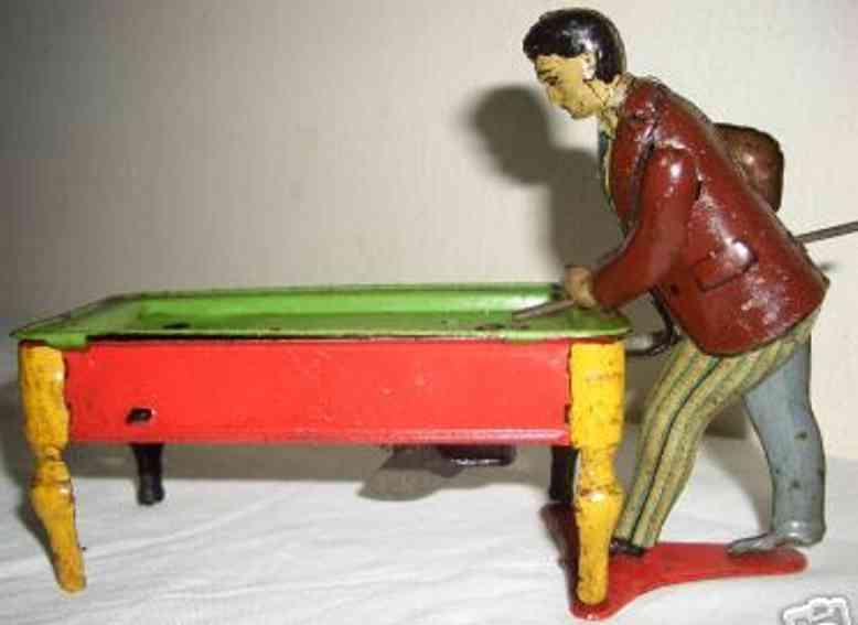 kellermann blech spielzeug billiardspieler mit uhrwerk