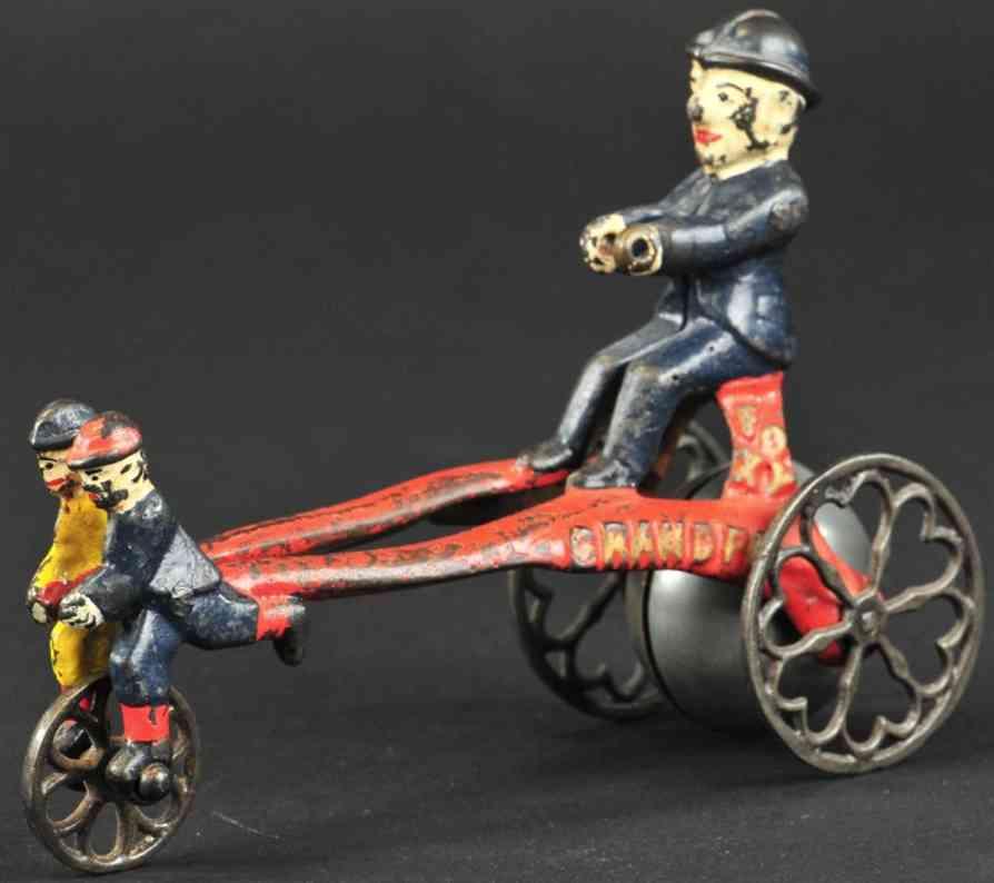 kenton hardware co gusseisen foxy grossvater glockenspielzeug zwei kinder
