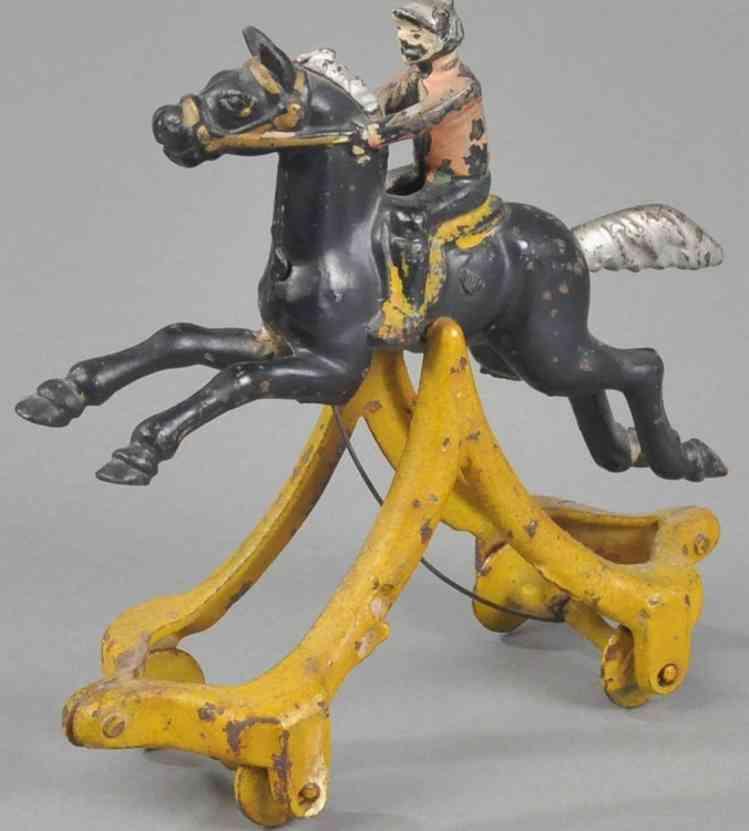 kenton hardware co spielzeug gusseisen jockey auf pferd