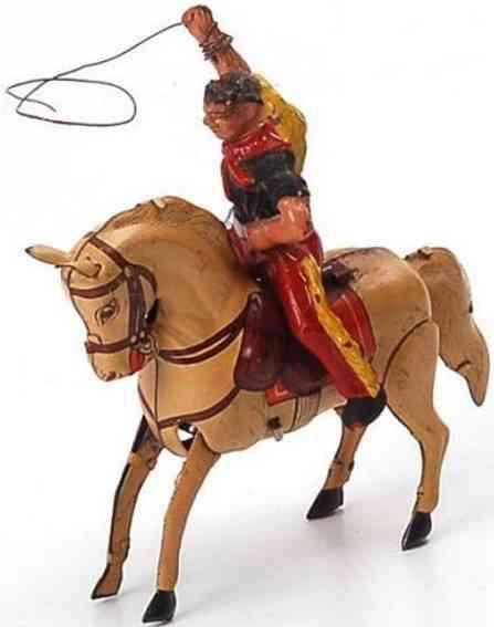 koehler blech spielzeug cowboy auf springendem pferd mit uhrwerk
