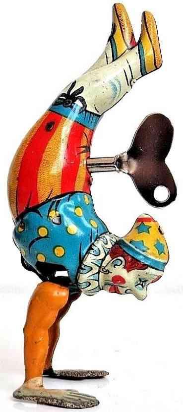 koehler blech spielzeug handstand clown mit uhrwerk