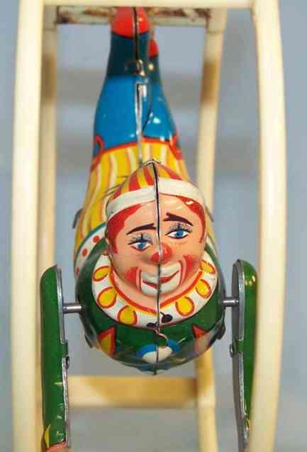 koehler 17/52 blech spielzeug clown im rhpenrad uhrwerk