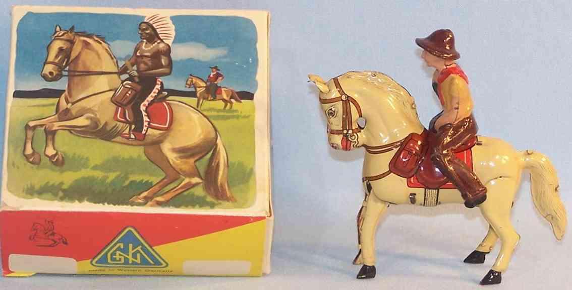 koehler farmer mit springendem pferd und uhrwerk